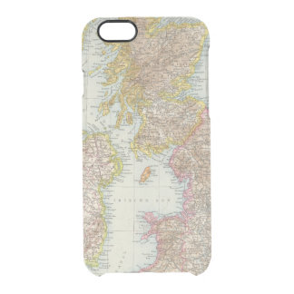 Grossbritannien, Irland - Map of UK, Ireland Clear iPhone 6/6S Case