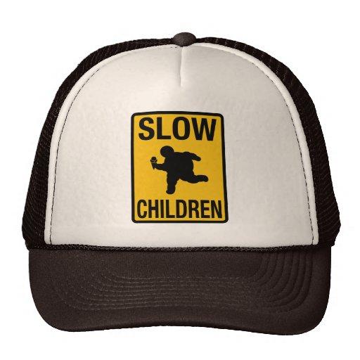 Grosse parodie de plaque de rue d'enfant d'enfants casquette trucker