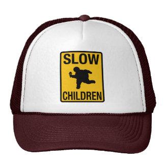 Grosse parodie de plaque de rue d'enfant d'enfants casquettes de camionneur