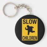 Grosse parodie de plaque de rue d'enfant d'enfants porte-clefs