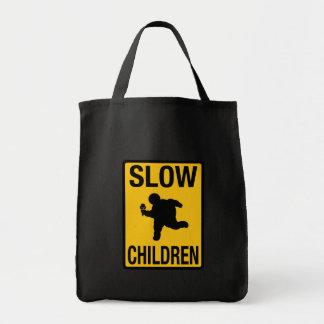 Grosse parodie de plaque de rue d'enfant d'enfants sacs fourre-tout