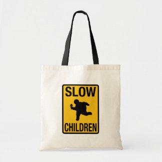 Grosse parodie de plaque de rue d'enfant d'enfants sac en toile budget