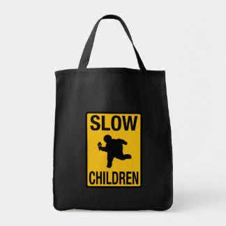 Grosse parodie de plaque de rue d'enfant d'enfants sac en toile épicerie