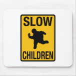 Grosse parodie de plaque de rue d'enfant d'enfants tapis de souris