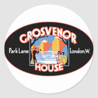 GrosvenorHouseLondon Classic Round Sticker