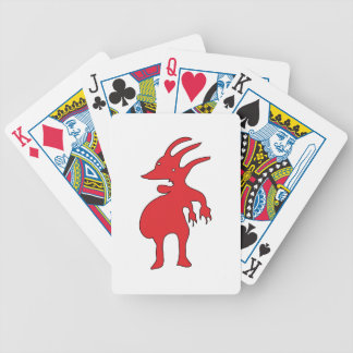 Grotesque Creature Isolated Bicycle Playing Cards