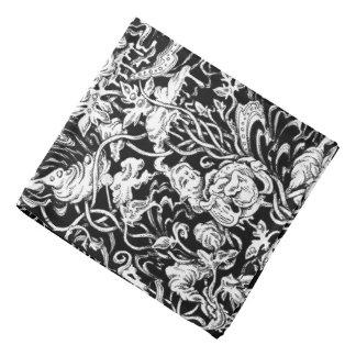 Grotesque Garden Black and White Bandana