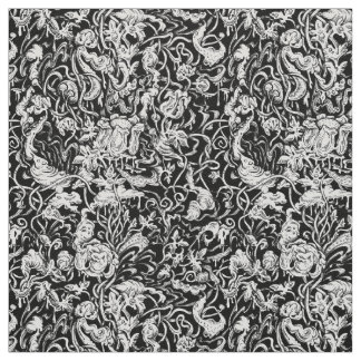 Grotesque Garden Black and White Fabric