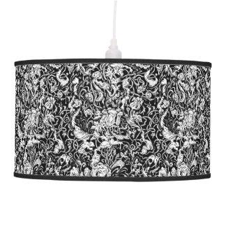 Grotesque Garden Black and White Lamp