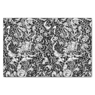 Grotesque Garden Black and White Tissue Paper