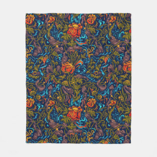 Grotesque Garden Fleece Blanket