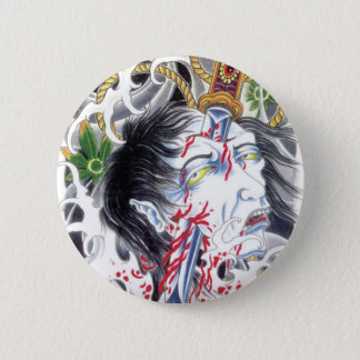 Grotesque Head & Sword 2 Inch Round Button