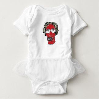 Grotesque Man Caricature Illustration Baby Bodysuit