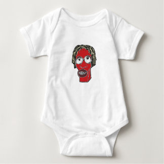 Grotesque Man Caricature Illustration Baby Bodysuit