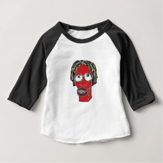 Grotesque Man Caricature Illustration Baby T-Shirt
