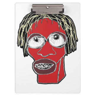 Grotesque Man Caricature Illustration Clipboard