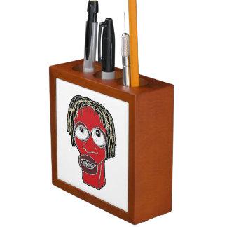 Grotesque Man Caricature Illustration Desk Organizer