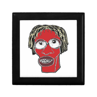 Grotesque Man Caricature Illustration Gift Box