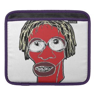 Grotesque Man Caricature Illustration iPad Sleeve