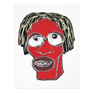 Grotesque Man Caricature Illustration Letterhead