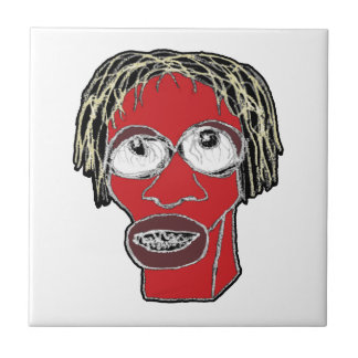 Grotesque Man Caricature Illustration Tile