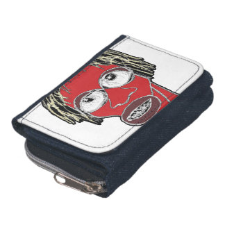 Grotesque Man Caricature Illustration Wallets