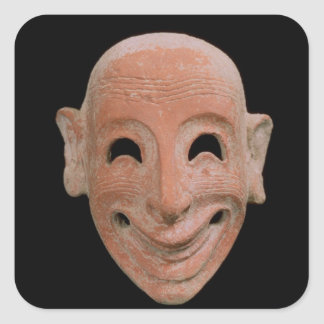 Grotesque mask, from Motya, 6th century BC (terrac Square Sticker