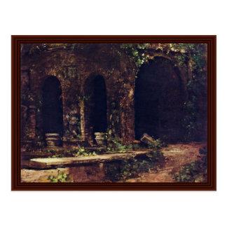Grotto In The Gardens Of Villa D'Este Near Rome Postcard