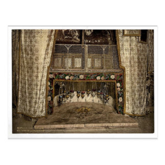 Grotto of the Nativity, Bethlehem, Holy Land, (i.e Postcard