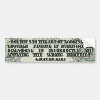 Groucho Marx on Politics Bumper Stickers