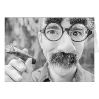 Groucho Marx Style Blank Greeting card