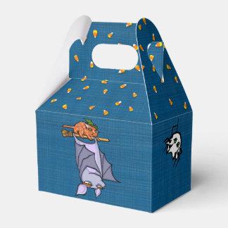 Grouchy Bat Cat Halloween Gable Favor Box