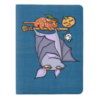 Grouchy Bat Cat Halloween Notebook - Pocket