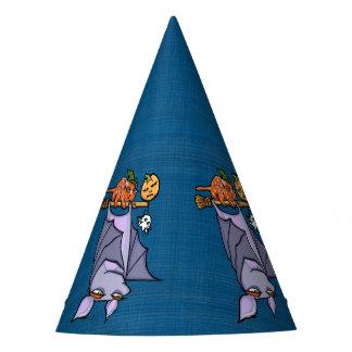 Grouchy Bat Cat Halloween Party Hat