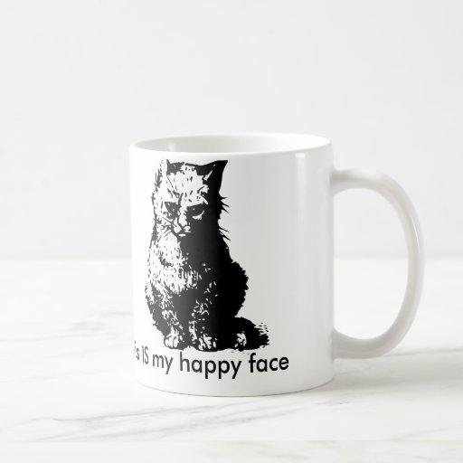 Grouchy Cat Coffee Mug