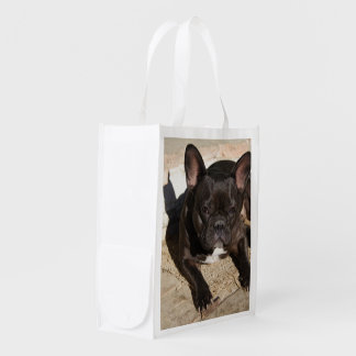 Grouchy French Bulldog Reusable Grocery Bag