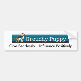 Grouchy Puppy Bumper Stickers