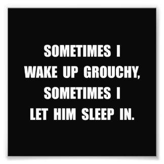 Grouchy Sleep Photo