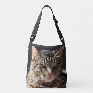 Grouchy Tabby Cat Crossbody Bag