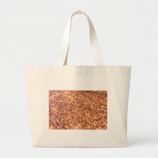 Ground covered with beech tree leaves in autumn large tote bag