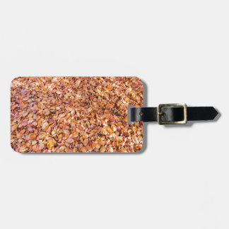 Ground covered with beech tree leaves in autumn luggage tag