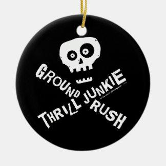 Ground Rush Skydiver Ceramic Ornament