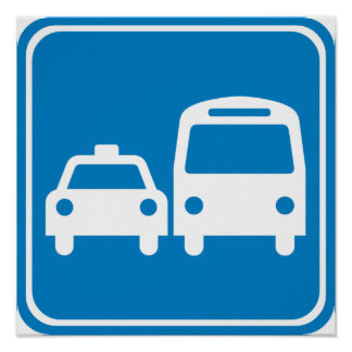 Ground Transportation Highway Sign Print
