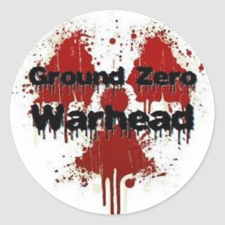 Ground Zero Warhead Splatter Classic Round Sticker