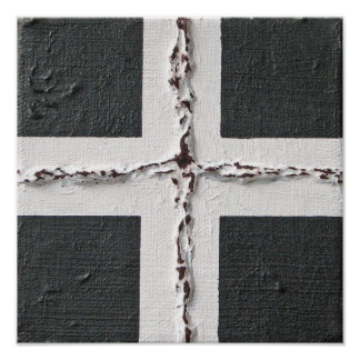 Grounded Abstract Painting Poster