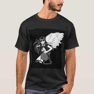 Grounded Angel: Black Double T-Shirt
