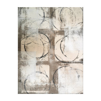 'Grounded' Neutral Abstract Art Canvas Print