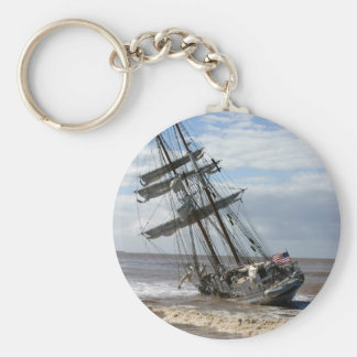 Grounded Ship Basic Round Button Keychain