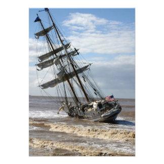 Grounded Ship Custom Invitations