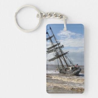 Grounded Ship Single-Sided Rectangular Acrylic Keychain